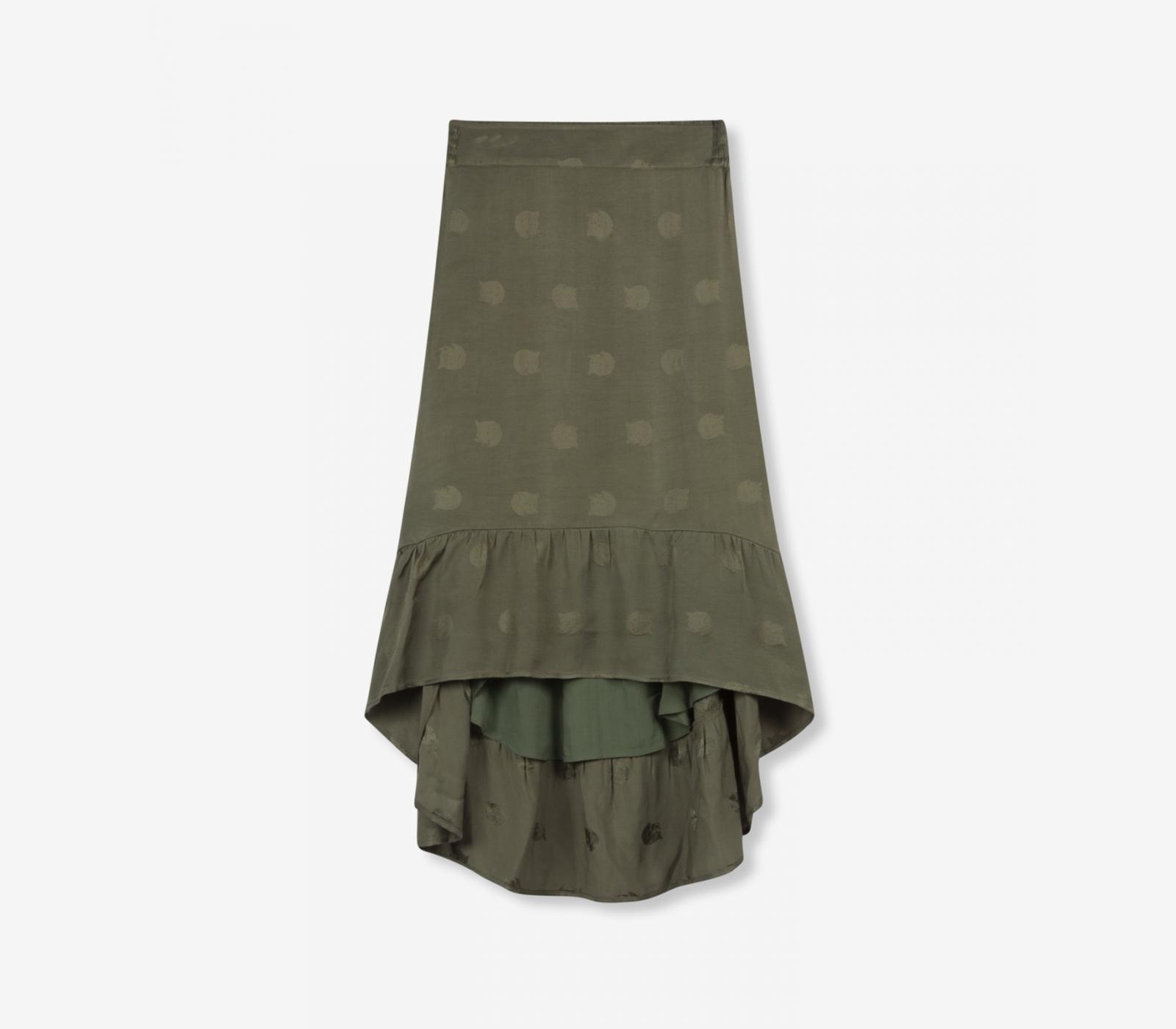 a2d56d8609e073 Leopard print skirt | Green long skirt | ALIX The Label