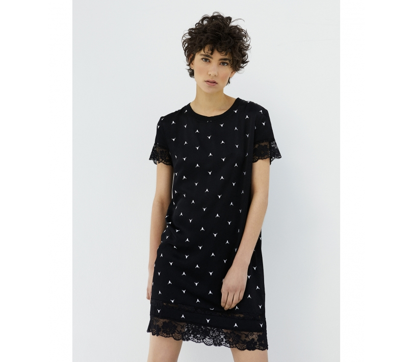BULL EMBROIDERED DRESS