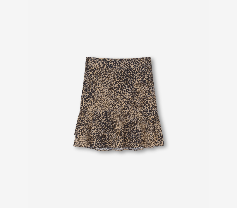 ANIMAL VISCOSE SKIRT