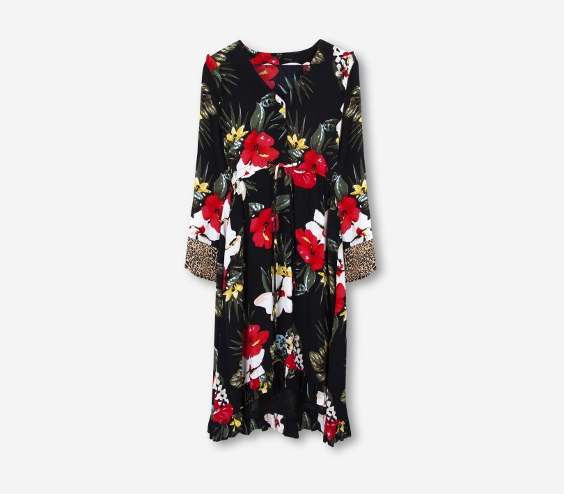 FLOWY FLOWER DRESS