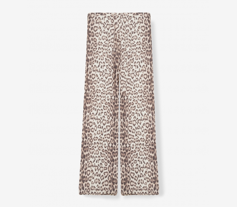WIDE LEG ANIMAL PANTS
