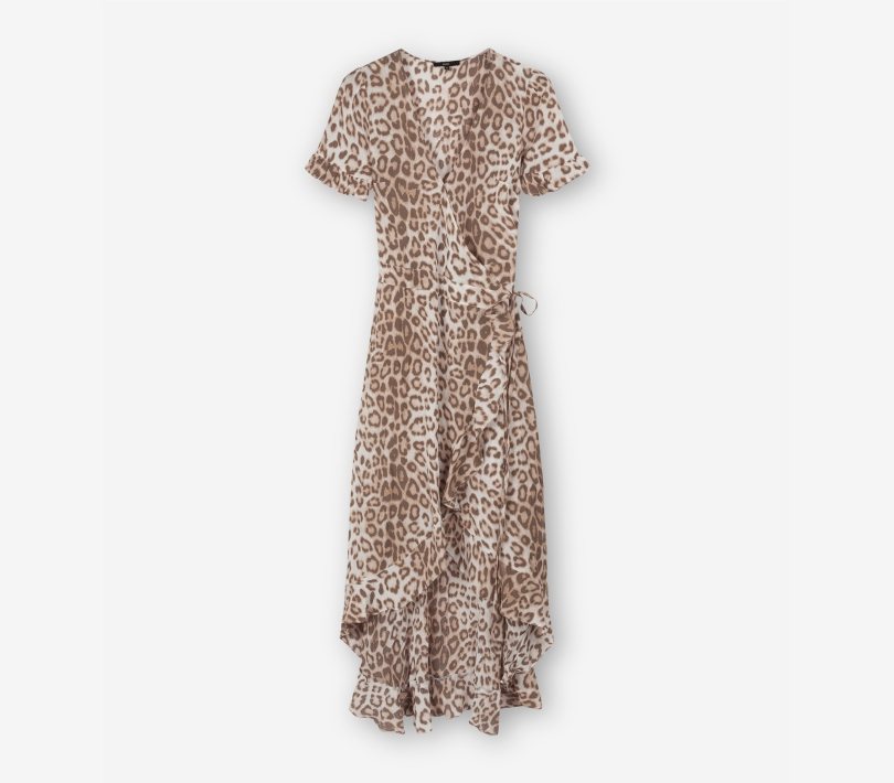 ANIMAL WRAP DRESS