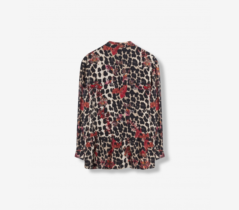 LEOPARD FLOWER BLOUSE