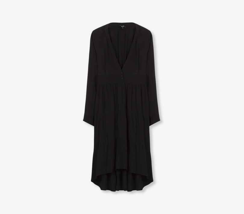 FLOWY VISCOSE DRESS