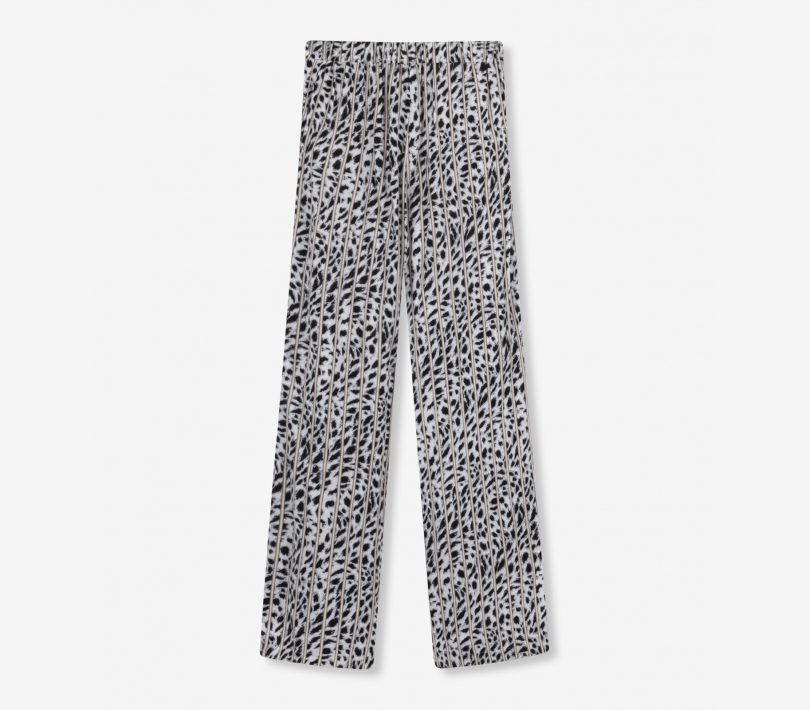 STRIPED LEOPARD PANTS