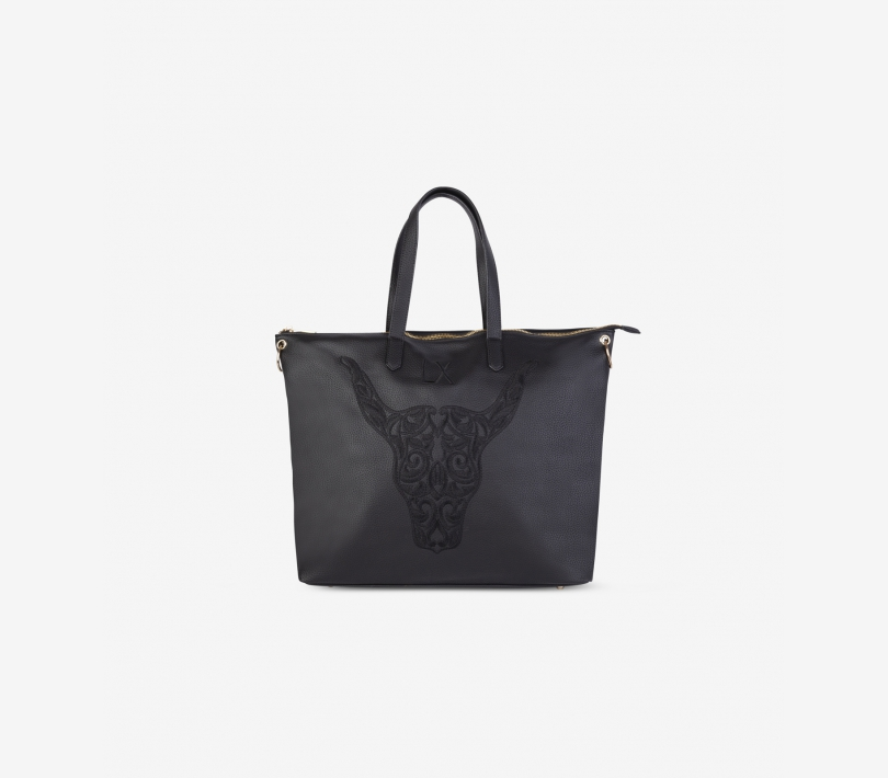 FAKE LEATHER SHOPPER