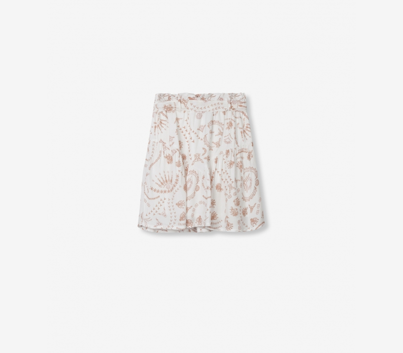 STAMP FLOWY SKIRT