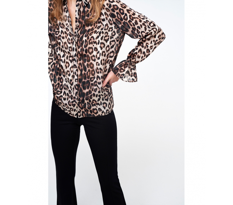 ANIMAL JACQUARD BLOUSE