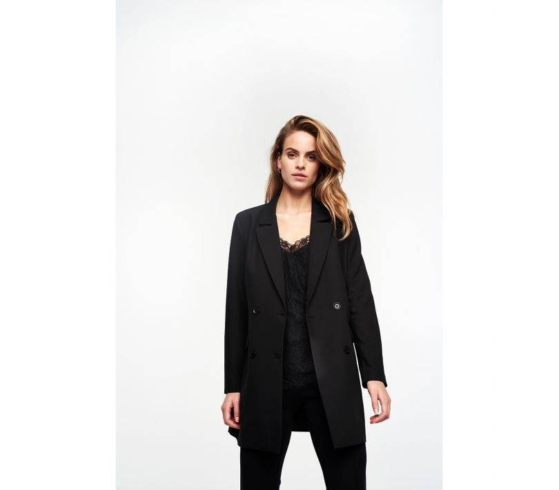 Jacquard stretch blazer black ALIX The Label