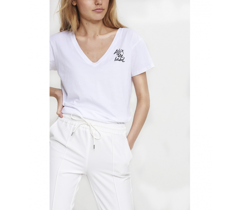 Stretch pants soft white ALIX The Label