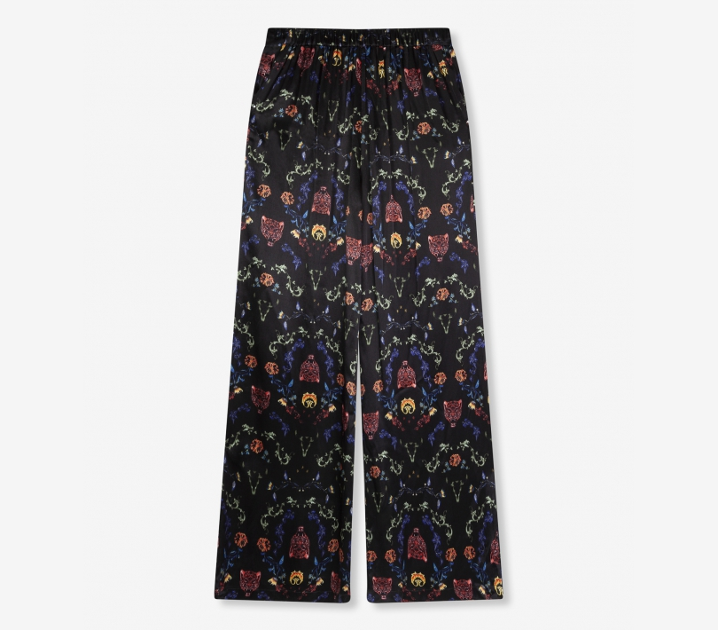 Multi colour satin pants black ALIX The Label