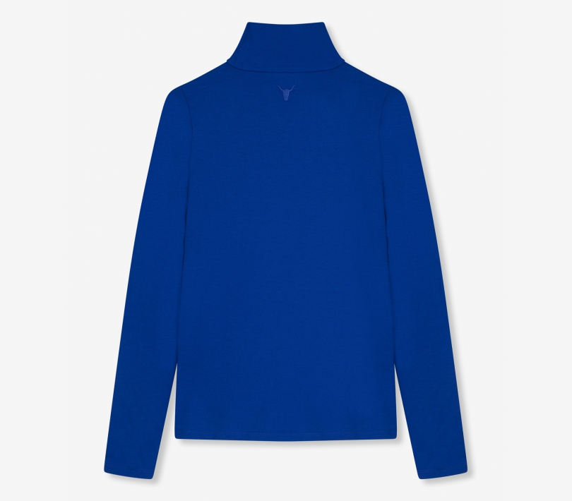 Viscose crepe turtle neck cobalt ALIX The Label