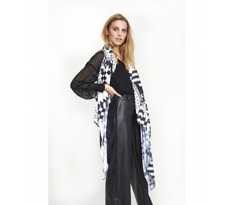 Mix print scarf soft white ALIX The Label