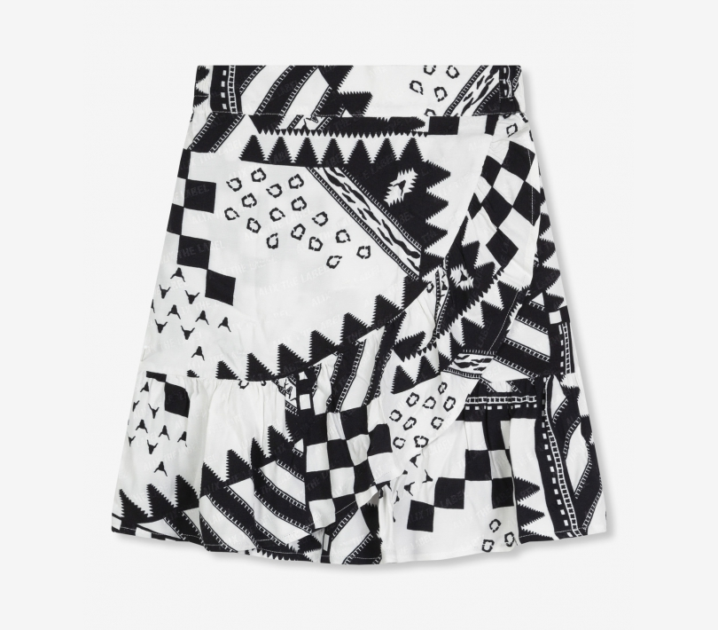 MIX PRINT JACQUARD SKIRT
