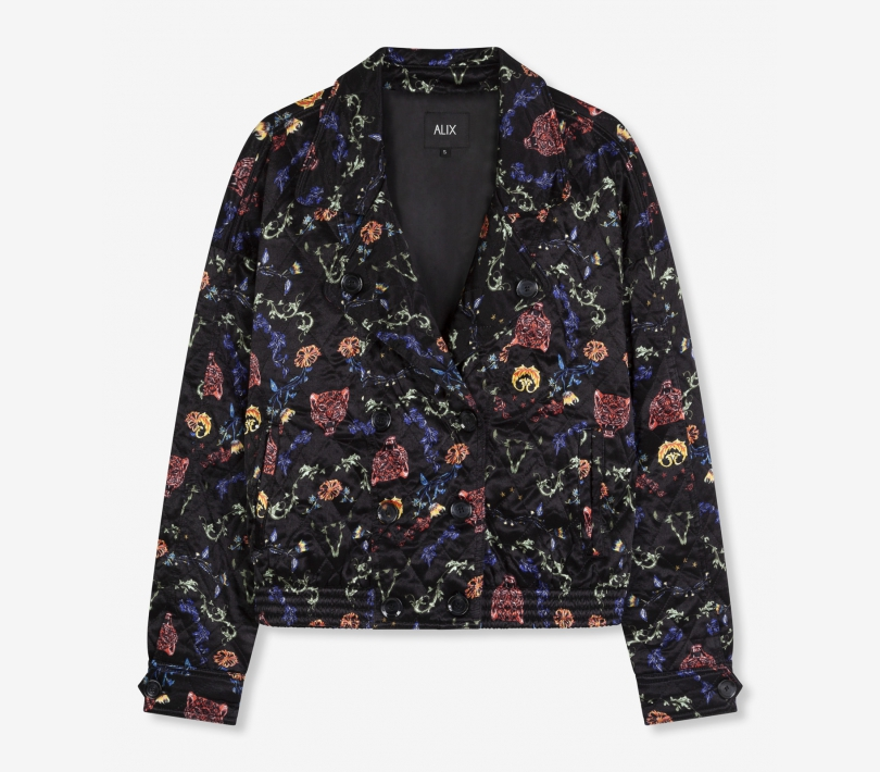 Multi colour satin jacket black ALIX The Label