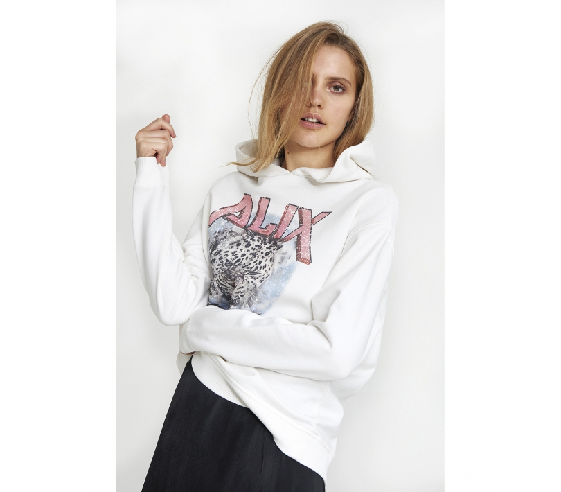 Alix tiger hoodie soft white ALIX The Label