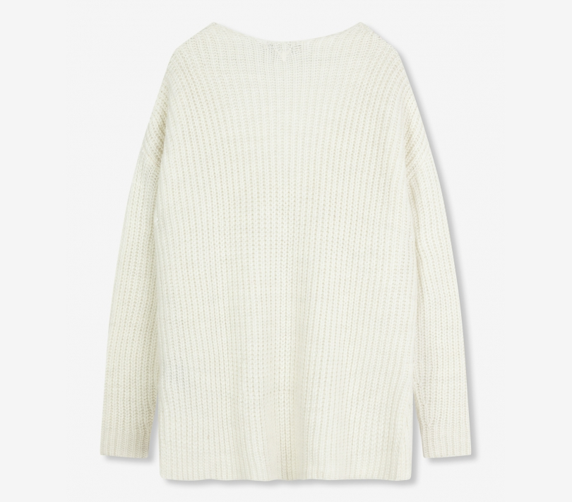 Knitted pullover soft white ALIX The Label
