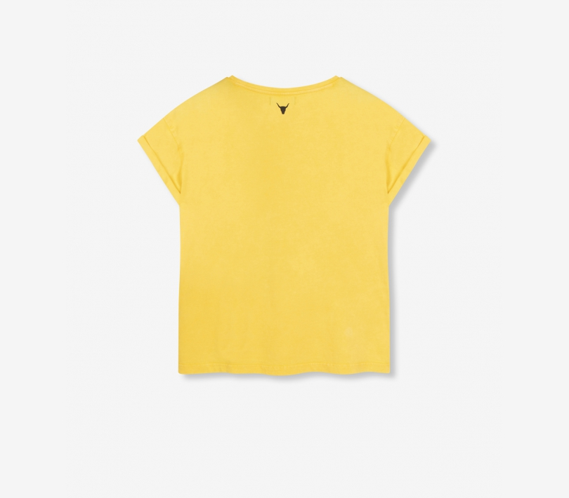Tiger t-shirt mid yellow ALIX The Label