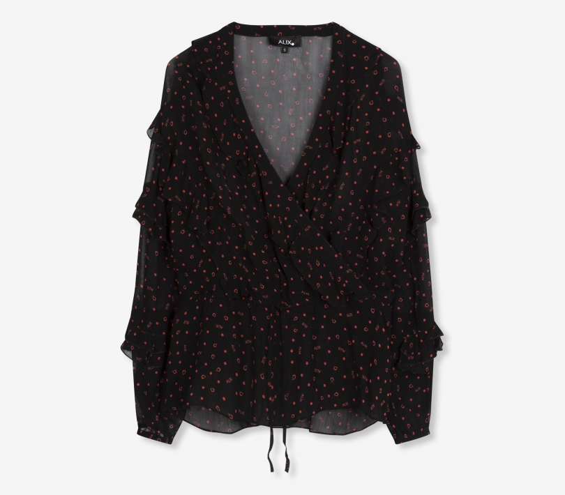 Alix print top black ALIX The Label