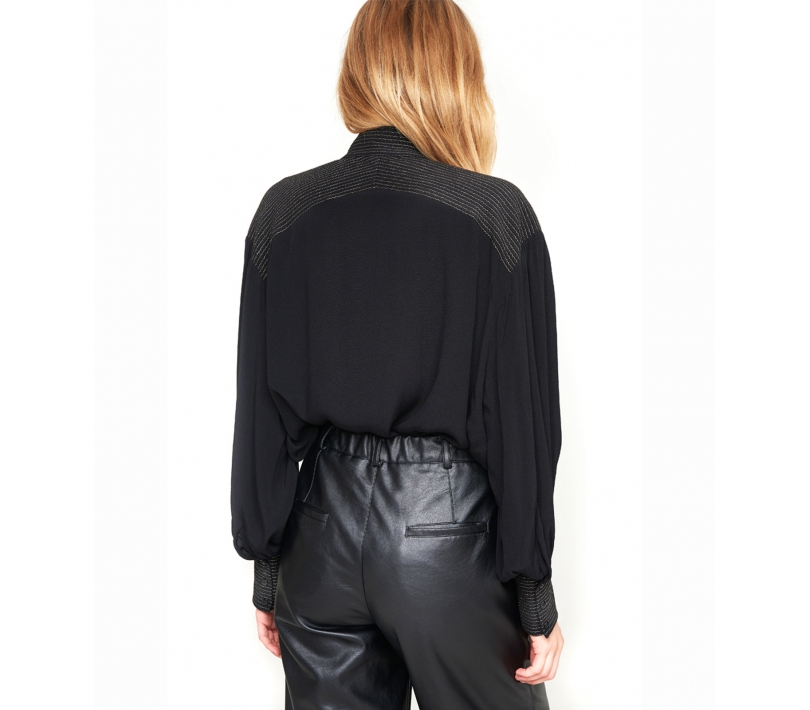 Oversized blouse black ALIX The Label