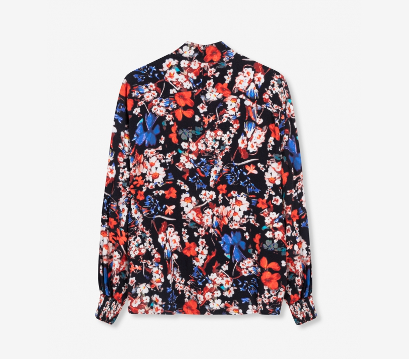FLOWER OVERSIZED BLOUSE