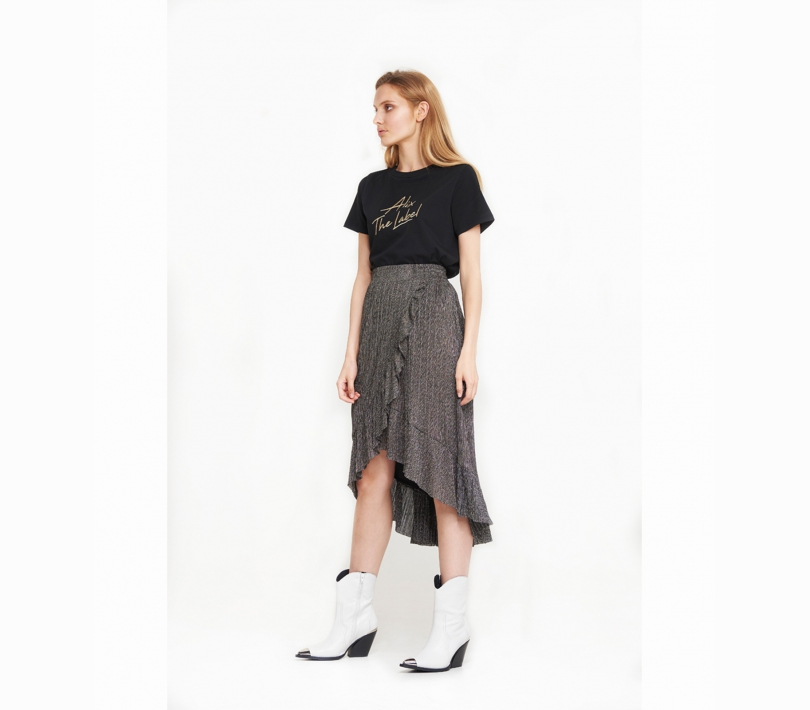 Lurex mesh long skirt gold ALIX The Label