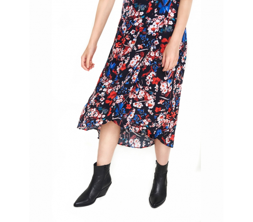 Flower midi skirt black ALIX The Label