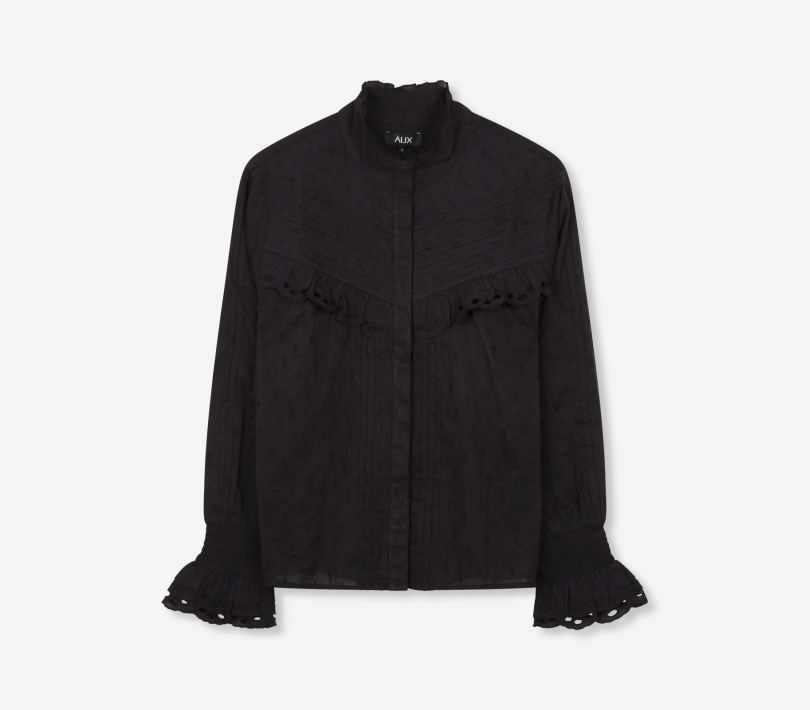 Broderie blouse black ALIX The Label