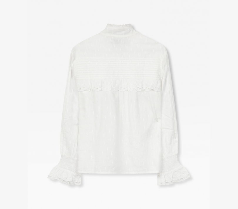 Broderie blouse soft white ALIX The Label