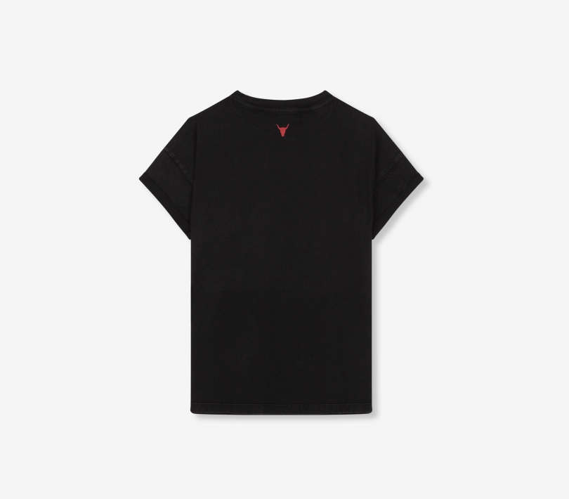 Alix embroidered t-shirt black ALIX The Label