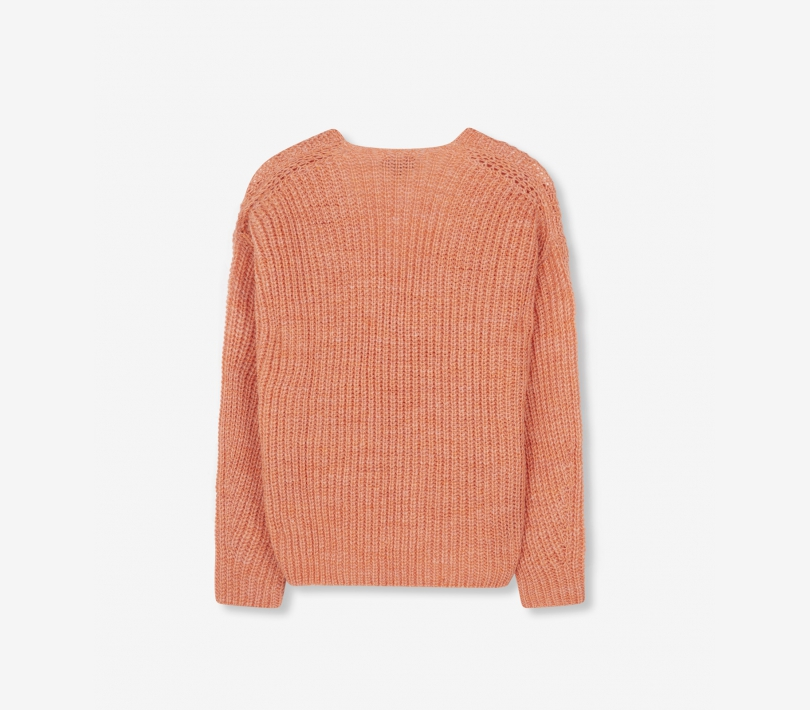 V-neck pullover peach pink ALIX The Label