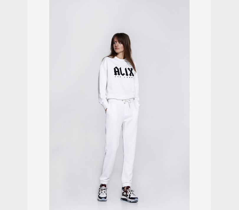 Sweat pants soft white ALIX The Label