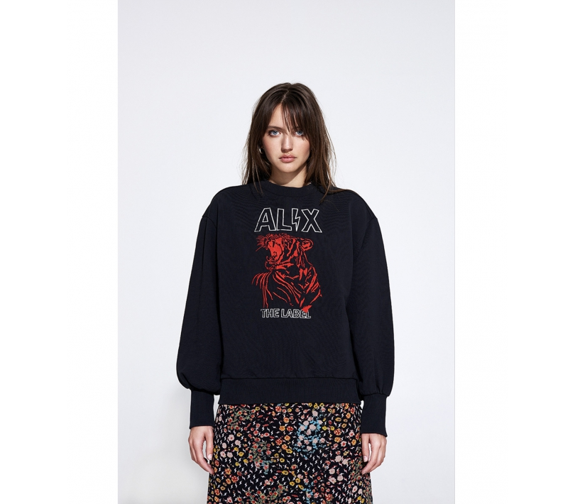Alix washed sweater black ALIX The Label