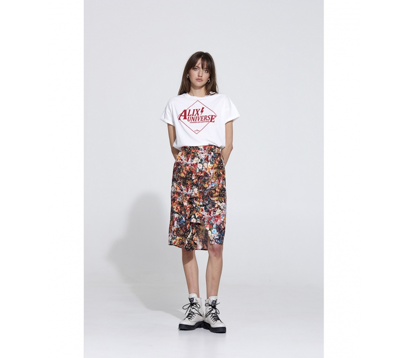 Alix universe t-shirt soft white ALIX The Label