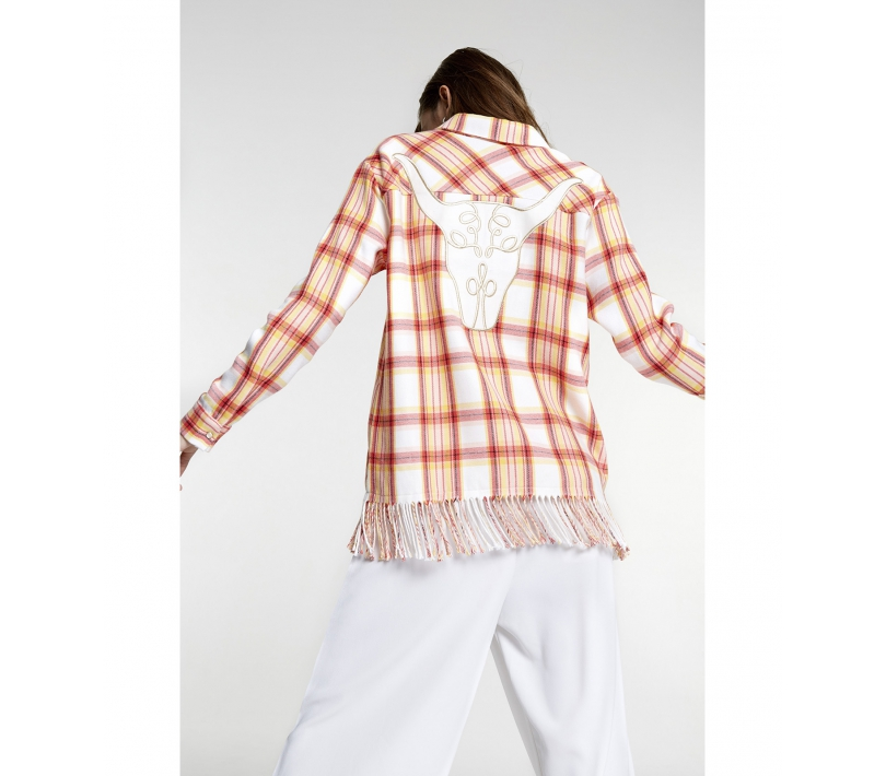 Check jacket soft white ALIX The Label
