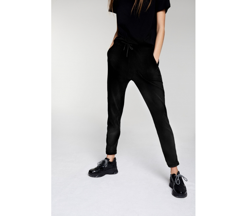 Soft rib pants black ALIX The Label