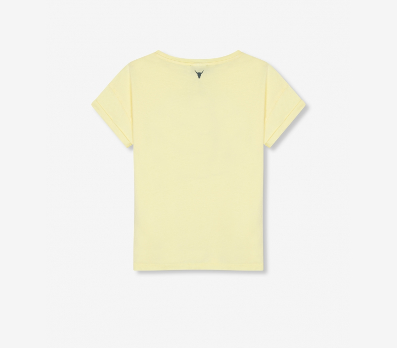 Vintage alix t-shirt pale yellow ALIX The Label