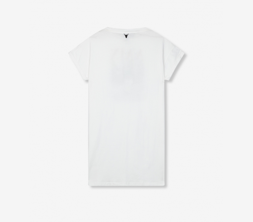 Cross long t-shirt soft white ALIX The Label
