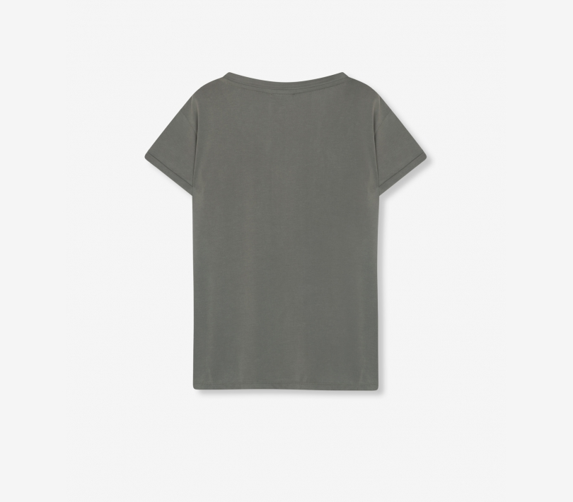 V-neck t-shirt pale army ALIX The Label