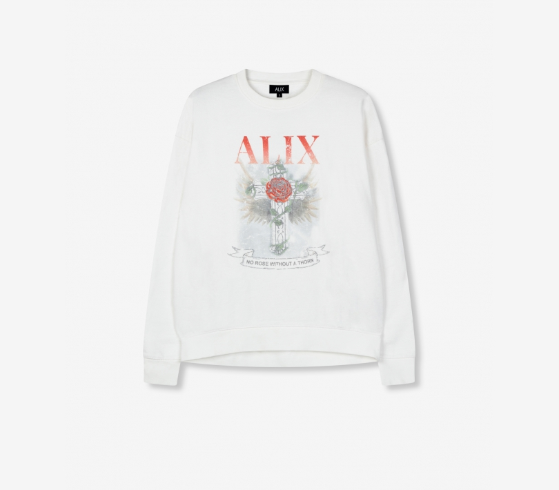 Cross sweater soft white ALIX The Label