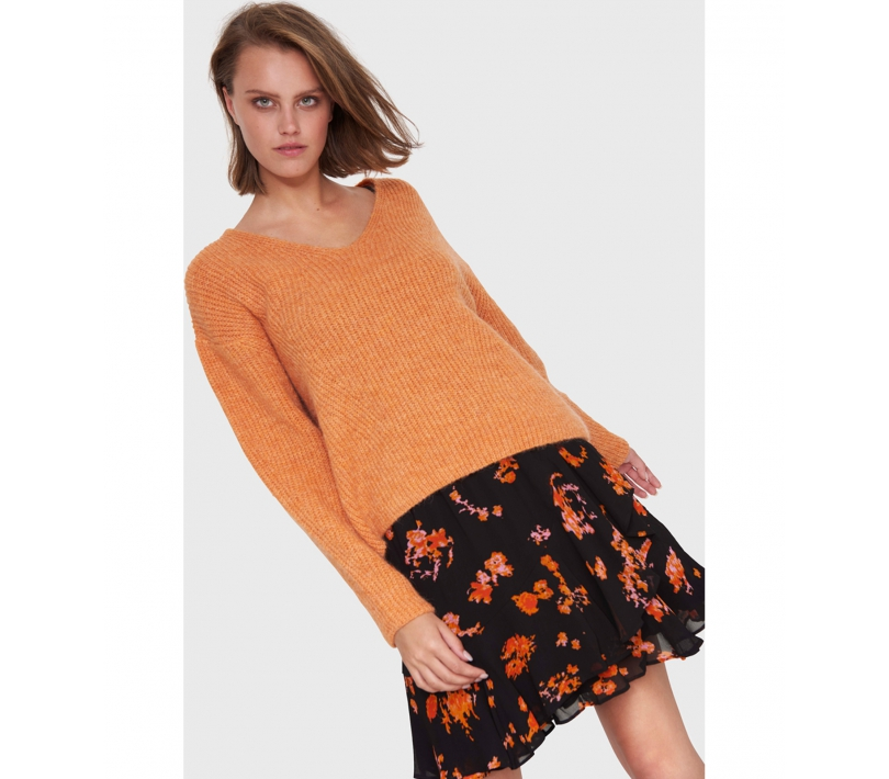 V-neck pullover soft orange ALIX The Label