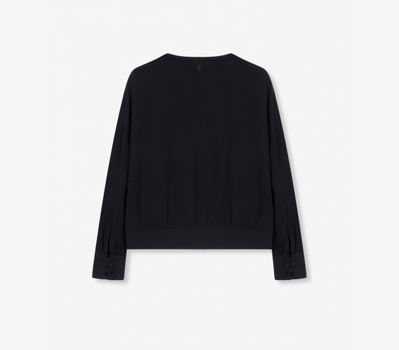Oversized viscose top black ALIX The Label