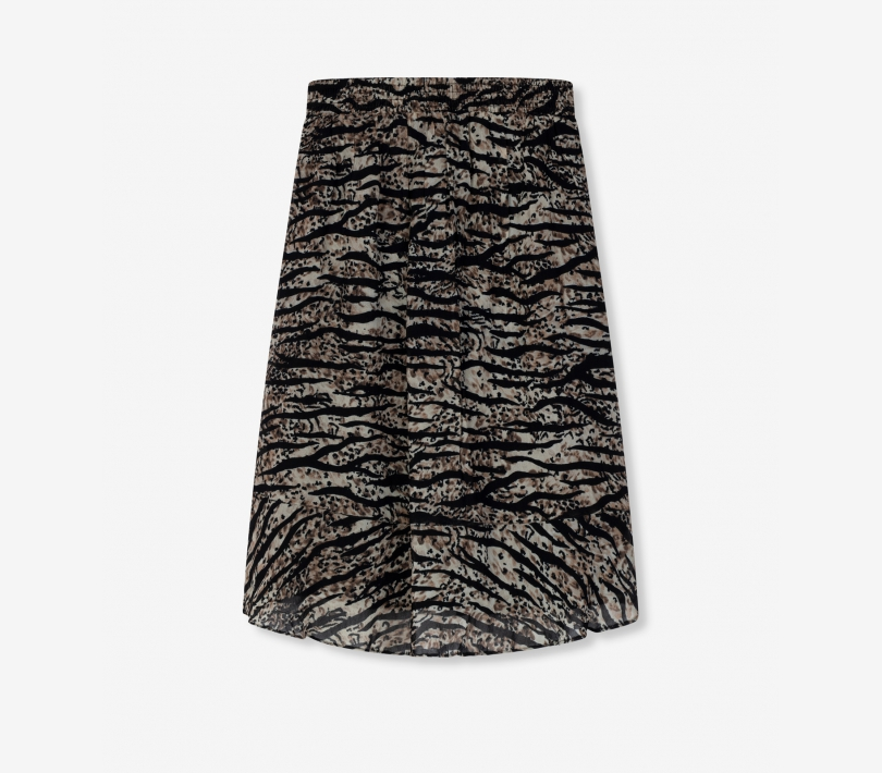 Animal chiffon skirt animal ALIX The Label