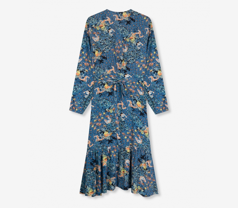 Western flower long dress sapphire blue ALIX The Label