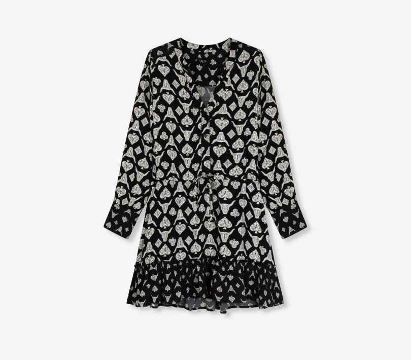 Playing cards dress black ALIX The Label