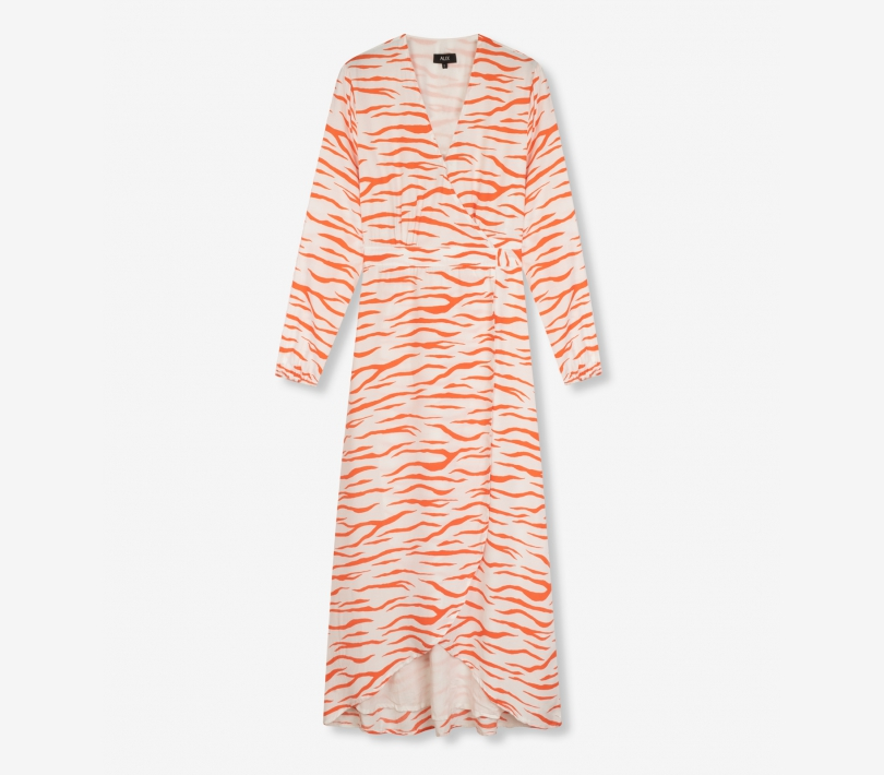 Long zebra dress soft white ALIX The Label