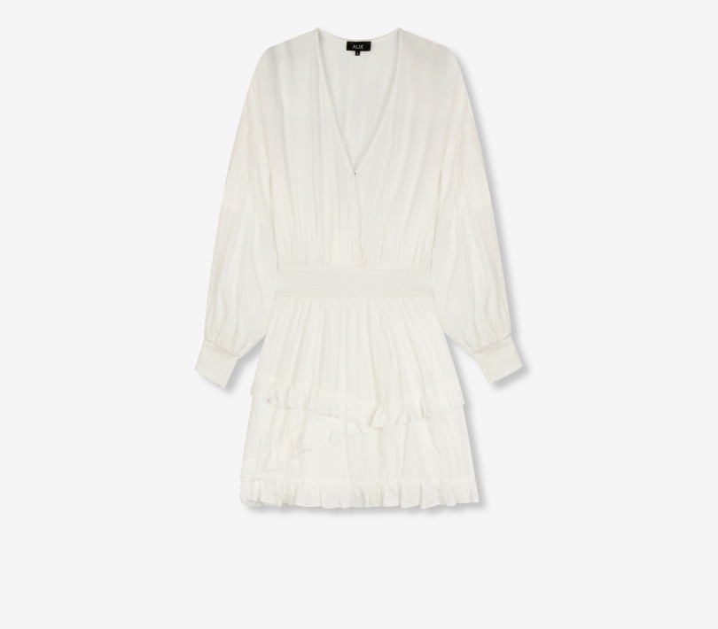Viscose dress soft white ALIX The Label