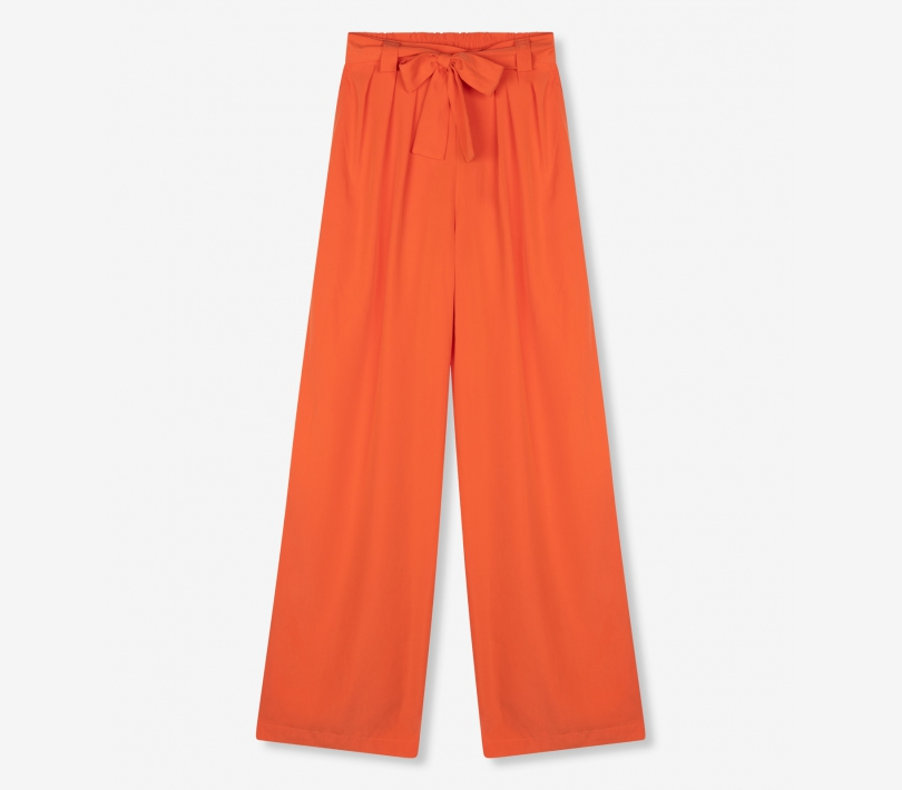 Modal wide leg pants spicy coral ALIX The Label