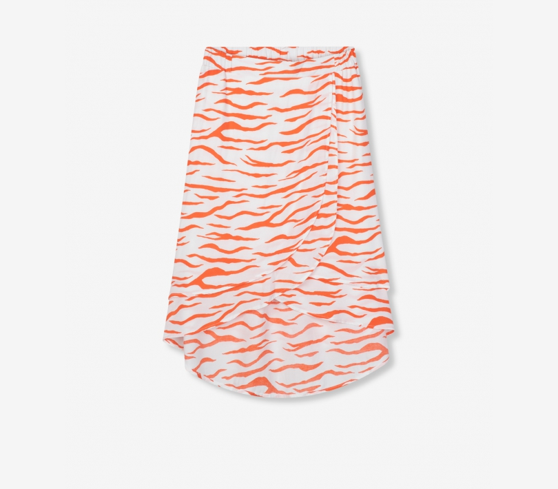 Long zebra skirt soft white ALIX The Label