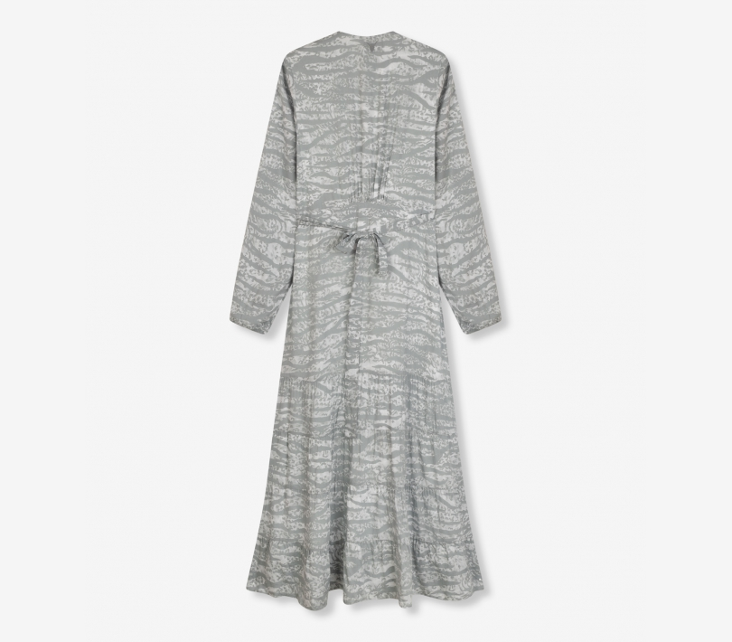 Animal long dress pebble grey ALIX The Label